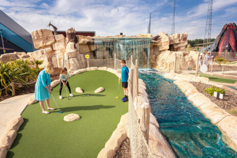 Discover our Jurassic 36-hole outdoor adventure golf course. Now home to two 18-hole courses, Dino Falls Adventure Golf is the largest adventure golf attraction outside of London.