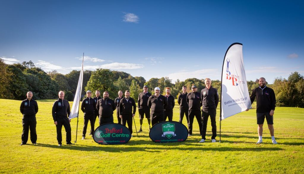 BATTLE BACK GOLFERS TAKE THE WIN AGAINST TRAFFORD GOLF CENTRE PGA PROFESSIONALS AND BBC BREAKFAST HOST